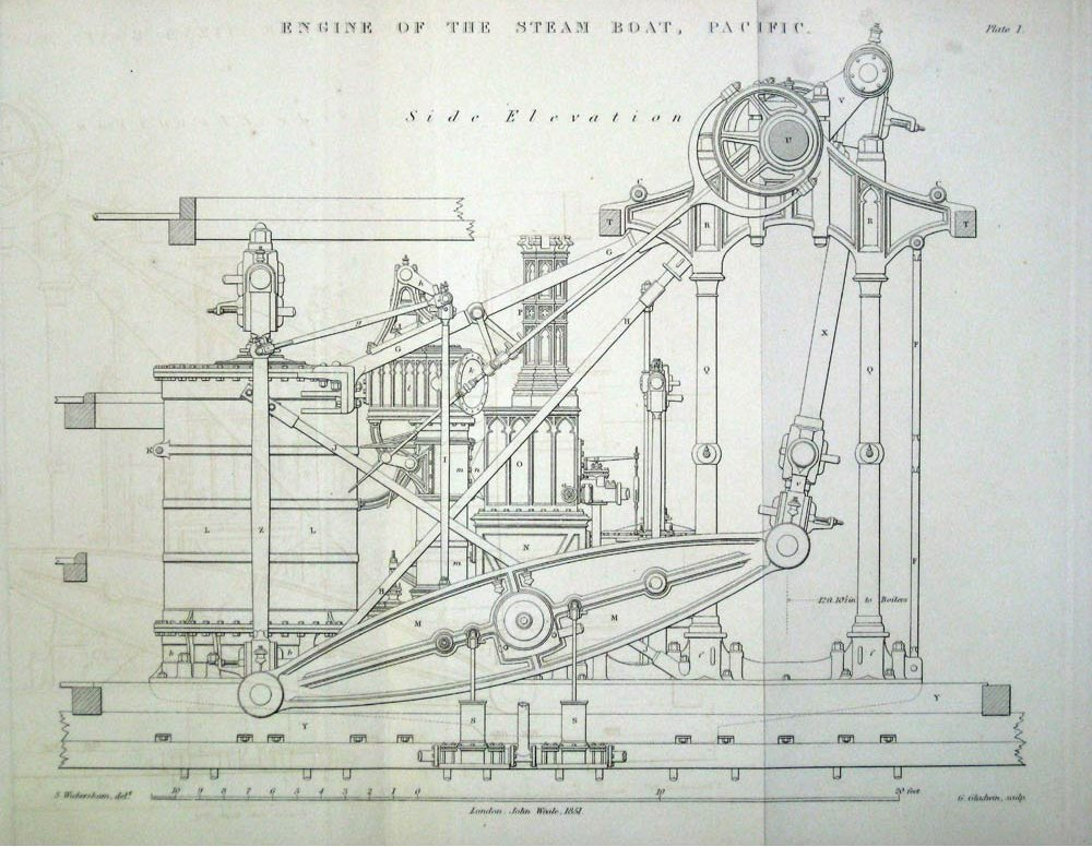 Gothic Style Us Navy Side Beam Engine
